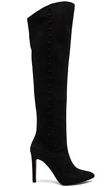 Knee High Boot in Suede Black