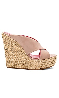 Mule Wedge in Face Suede