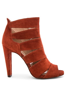 Pura Lopez Cutout Heel in Suede Cotto