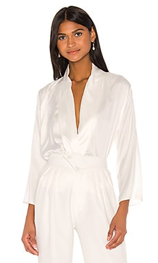 Celine Silk Shirt Piece of White $110