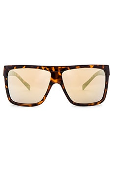 Quay Barnun Sunglasses in Tort & Gold Mirror