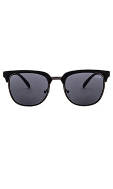 Quay Flint Sunglasses in Black