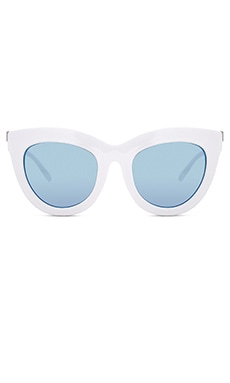 Quay Eclipse Sunglasses in White