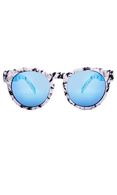 Quay High Emotion Sunglasses in White Marble