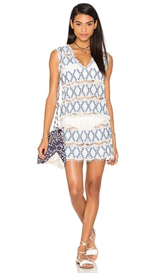 Queen & Pawn Ios Lace Mini Dress in Blue