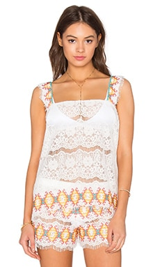 Kea Embroidered Lace Tank
