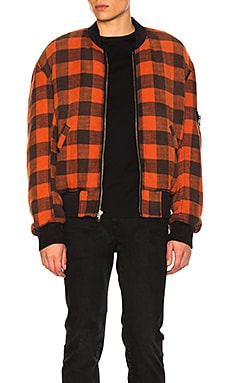 Double Plaid Flight Jacket