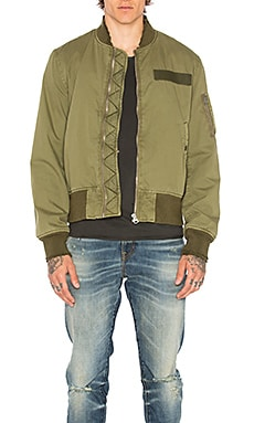 R13 Surplus Destroyed Flight Jacket in Olive