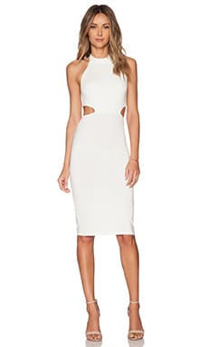 x REVOLVE Cut Out Midi Dress in White