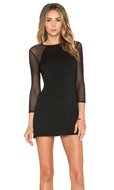 Mesh Marianne Dress en Noir