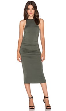 Rachel Pally x REVOLVE Racerback Ruched Maxi Dress in Conifer