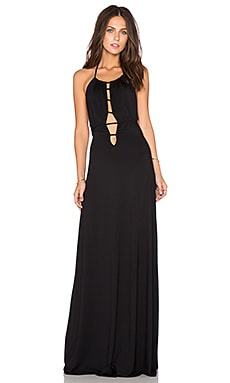 Rachel Pally x REVOLVE Cutout Front Halter Dress in Black