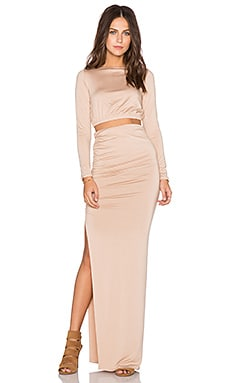 Rachel Pally x REVOLVE Ruched Crop Top & Skirt in Bamboo
