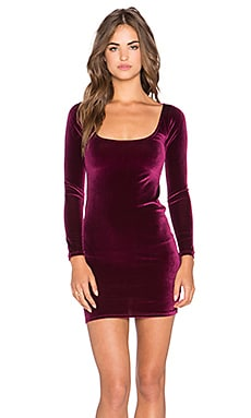 Rachel Pally Velvet Cove Mini Dress in Wine