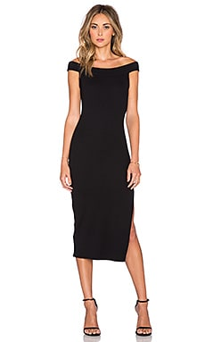 Wen Thick Rib Dress in Black