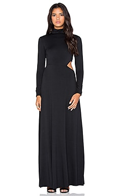 Rachel Pally X REVOLVE Turtleneck Side Cutout Maxi Dress in Black