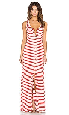 Royce Maxi Dress in Caliente Stripe