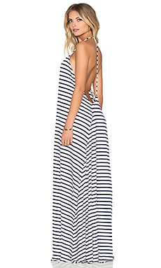 Leia Dress in Atlantic Stripe