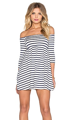 Rachel Pally x REVOLVE Off The Shoulder Empire Dress in Atlantic Stripe