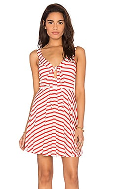Ossy Mini Dress in Caliente Stripe