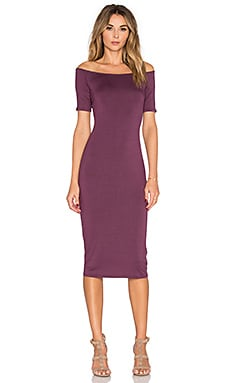 Jagger Midi Dress in Currant