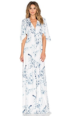 Long Caftan Dress en Eclipse Mariposa