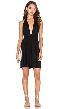 x REVOLVE Deep V Mini Dress in Black