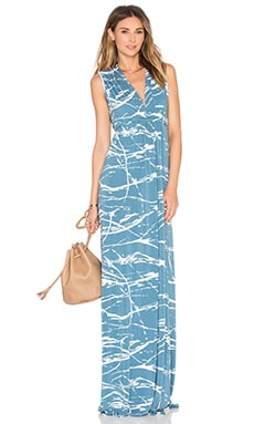 Sleeveless Maxi Caftan in Moonflower Reverie