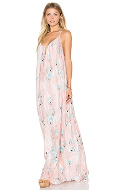 Crepe Mirage Maxi Dress in Pluma