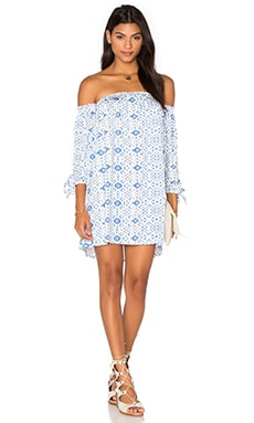Trice Mini Dress in Delta Medallion