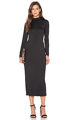 Stella Midi Dress en Noir