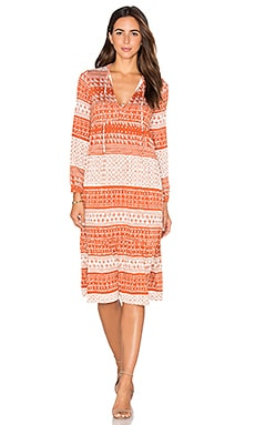 Kaemon Dress in Copper Block Print