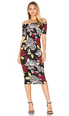 Jagger Midi Dress in Rosa Print