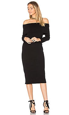 Luxe Rib Welsy Dress en Negro