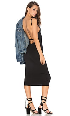 Bare Back Midi Dress in Black