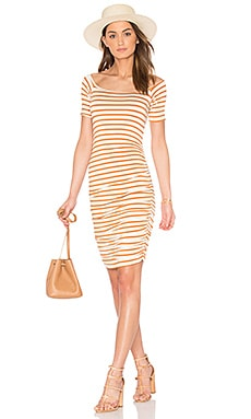Mavery Dress in Flan Stripe