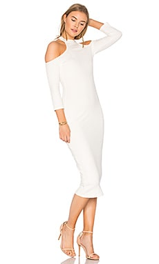 Rib Hana Dress in White