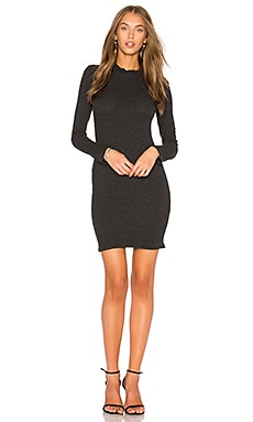Sweater Rib Bodice Seam Dress
