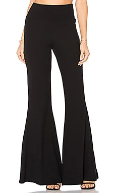 Luxe Rib Piero Pant in Black