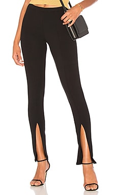 Luxe Rib Front Slit Pant
