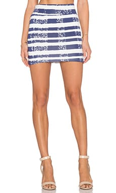 Rachel Pally Bandage Mini Skirt in Baja Stripe