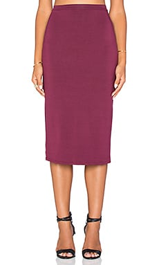 Rachel Pally Hasley Midi Skirt in Cabernet