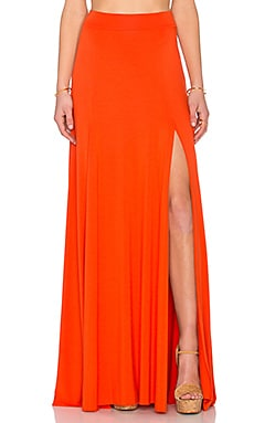 x REVOLVE Josefine Maxi Skirt in Caliente