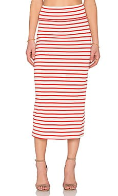 High Waisted Convertible Skirt in Caliente Stripe
