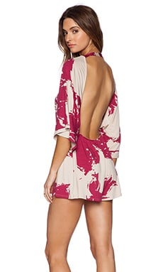Rachel Pally Hitomi Romper in Amaryllis Floral