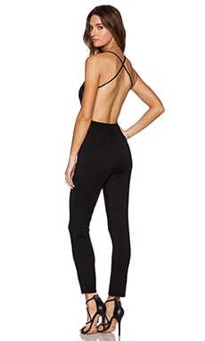 x REVOLVE Plunge Neck Jumpsuit in Black