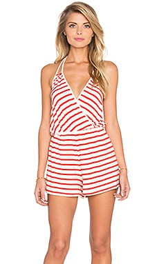Konrad Playsuit in Caliente Stripe