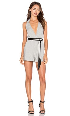 Maurice French Terry Playsuit en Gris Chiné