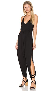 V-Neck Jumpsuit in Black