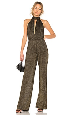 Halter Split Front Sweater Jumpsuit